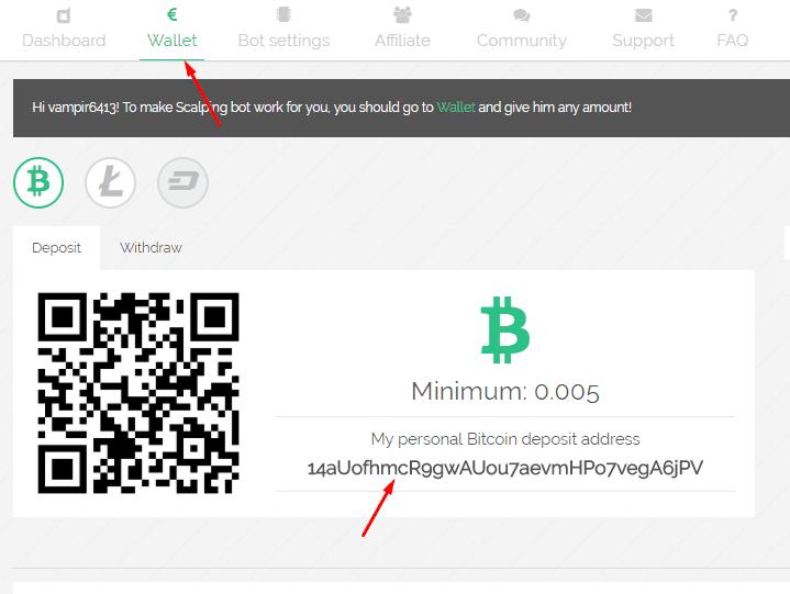 Регистрация в Hexabot 3