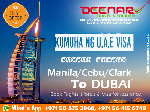 deenartravels.com, manila to dubai