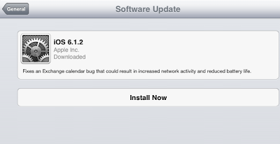 new features and fixes in iOS 6.1.2