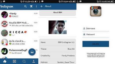 BBM Mod Themes Instagram Apk 2.13.1.14 [IG]