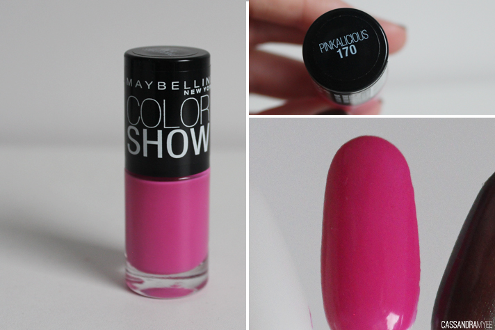 MAYBELLINE // Color Show Nail Polishes - Pinkalicious - cassandramyee