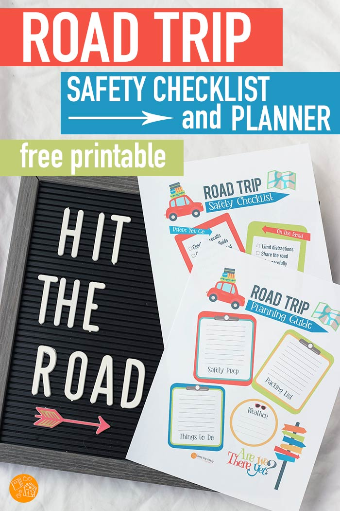 FREE printable road trip planning pages! Get a road trip safety checklist and a road trip planner, perfect for adding to your Happy Planner! Don't hit the road without this free printable set. #ad #VehicleSafety #DriverSafety #NHTSARoadTrip #planner #roadtrip