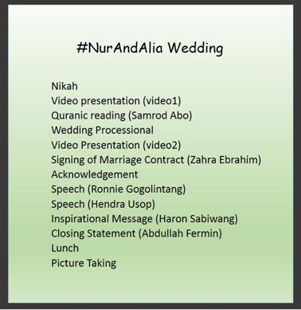 Muslim Wedding Emcee Script Ummoqari