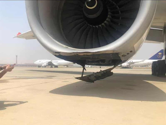 SAUDI AIRLINES FLIGHT EMERGENCY LANDED AT JEDDAH AIRPORT