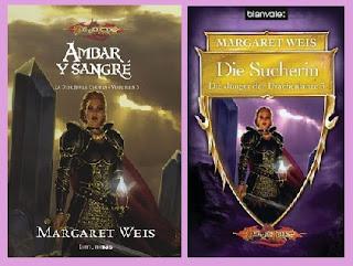 portadas del libro Ámbar y Sangre, de Margaret Weiss