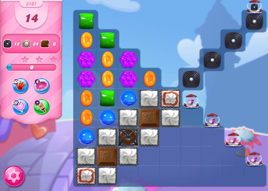 Candy Crush Saga level 3107