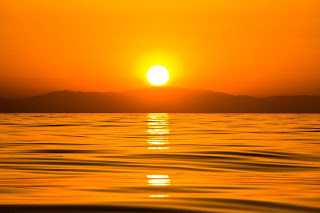 Puesta de Sol en el Mediterráneo, Estrecho de Gibraltar