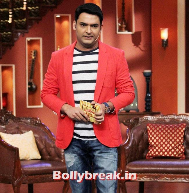 Kapil Sharma, Akshay Kumar on Comedy nights with Kapil for Holiday movie promotion