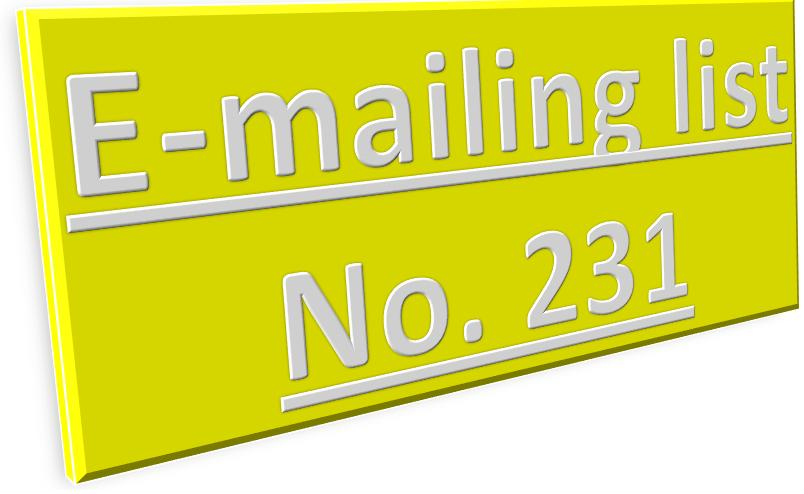 email id lists | free email id database download | mailing list 231
