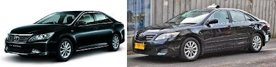Toyota camry menjadi Taksi