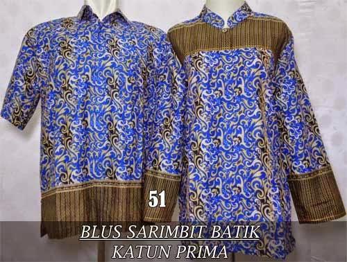 jual blus batik couple sarimbit 2015 murah dan modern