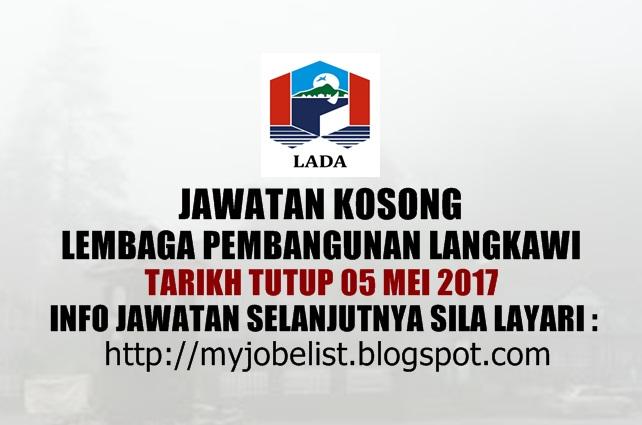 Jawatan Kosong di Lembaga Pembangunan Langkawi (LADA) - 30 April 2017