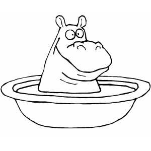 Hippo coloring pages of all kinds amazon ~ Cute Hippo Coloring Pages To Kids