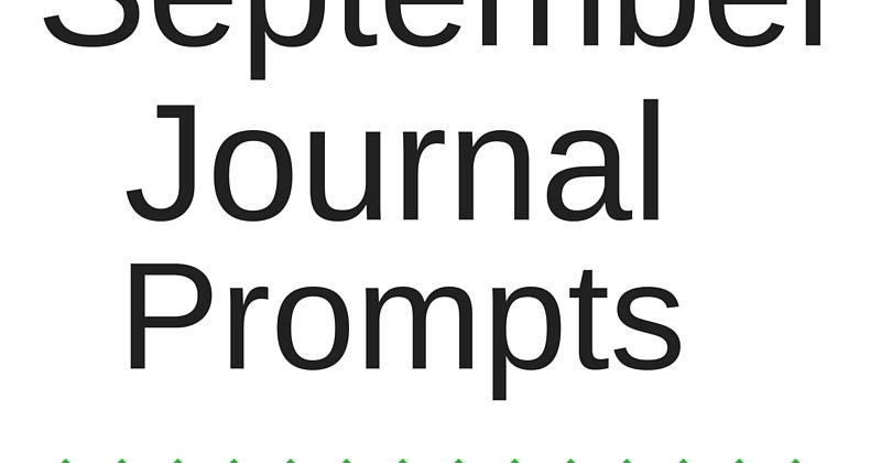 Life of Lovely: September Journal Prompts + Printable