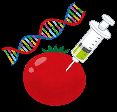 遺伝子組み換え食品のイラスト
