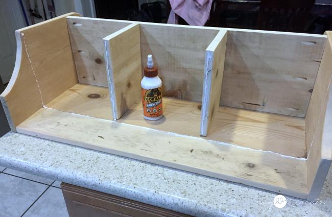 using gorilla glue for building a shelf