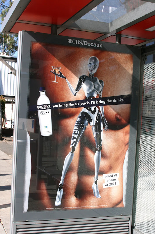 Svedka Vodka sixpack bus shelter poster