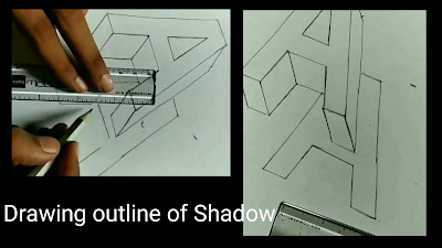 How to draw the shadow, step by step tutorial for to draw shadow texture, learn to draw 3d A, easy drawing, 3d drawing,