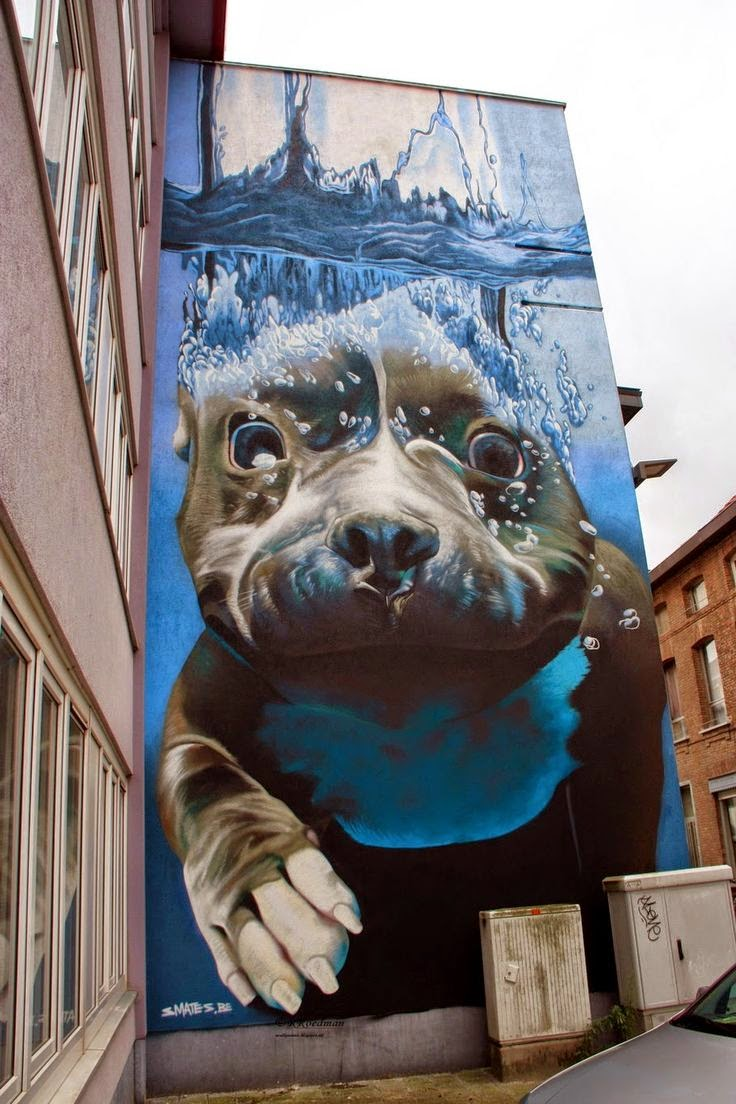 10 Best Places to Holiday in Belgium (100+ Photos) | Street art by Smates (Bart Smeets) in Mechelen, Belgium