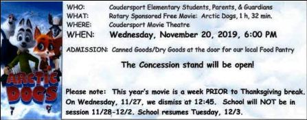 11-20 Free Movie, Coudersport