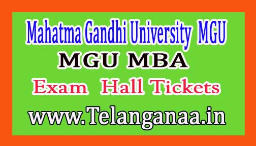 MGU MBA 3rd Sem Hall Tickets Download 2017