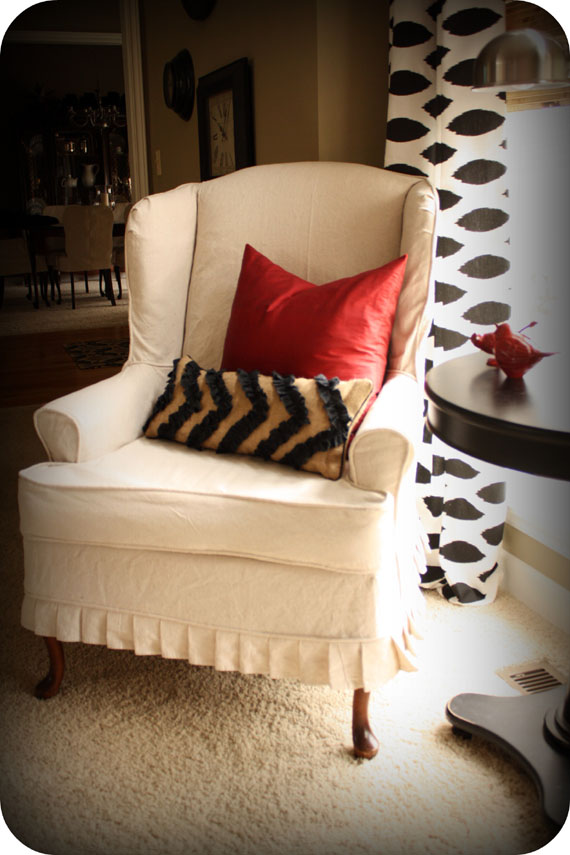 How To Make Slipcover For Wingback Chair Babies R Us Canada Safety First High Remodelaholic Slipcovered That I Want 10 Relax You Ll Be Thrilled With The Results