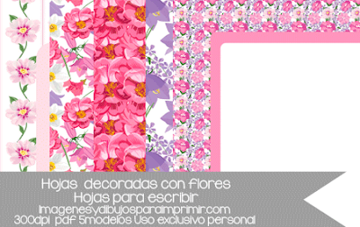 folios decorados con flores