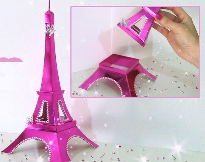 Eu Amo Artesanato Torre Eiffel De Papel Com Molde