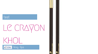 Δοκιμή μολύβι ματιών Le crayon khol της Lancome