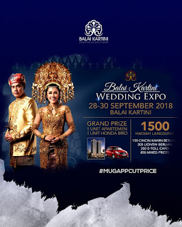 MUGAPP BANJIR PROMO AT BALAI KARTINI WEDDING EXPO 28-30 SEPTEMBER 2018