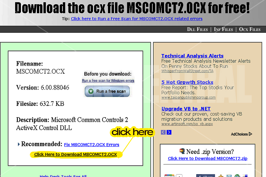 How to fix Run-time error '339': MSCOMCT2 OCX is missing