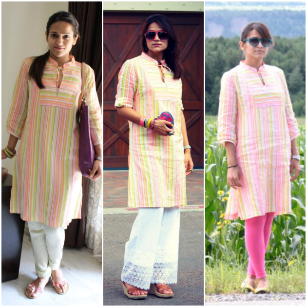 Three Ways To Style Striped Tunic, Tanvii.com