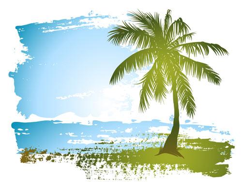 Playa Palmera Para Colorear Fondos De Pantalla
