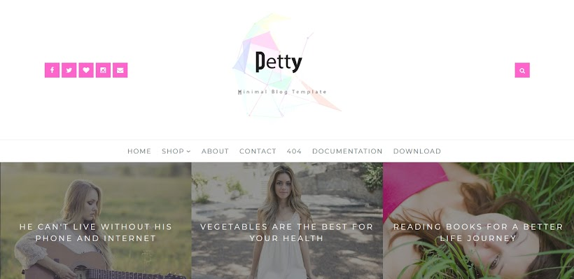 Petty Free Blogger Template