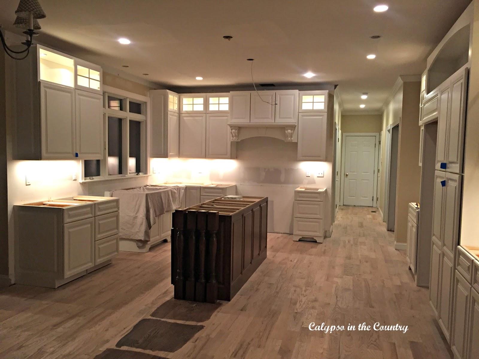 Kitchen Renovation Progress - Cabinet Lighting