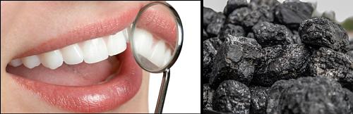 Blanquear los dientes con carbon