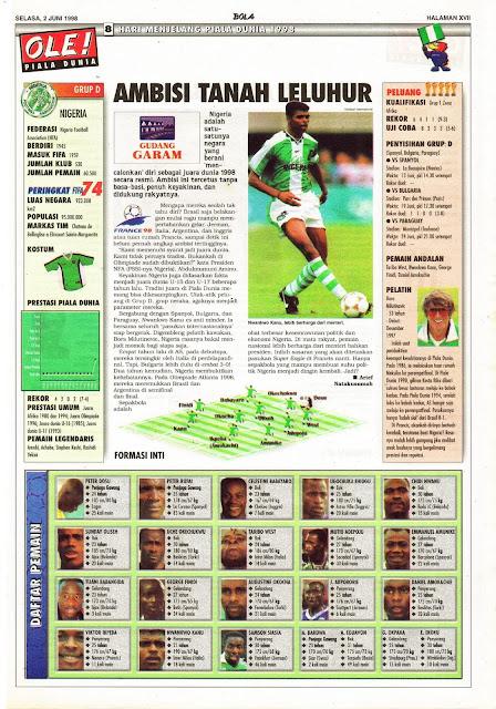 NIGERIA WORLD CUP 1998 NWANKWO KANU