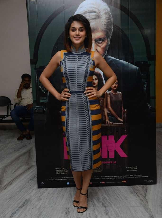 South Indian Actress Taapsee Pannu Photos At Pink Movie Premier Show