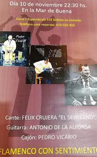 Cartel del concierto Flamenco con Sentimiento