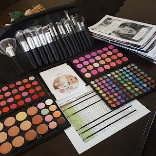 makeup, beauty school, brushes, cosmetics, makeup school