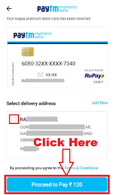 how to get paytm physical debit card