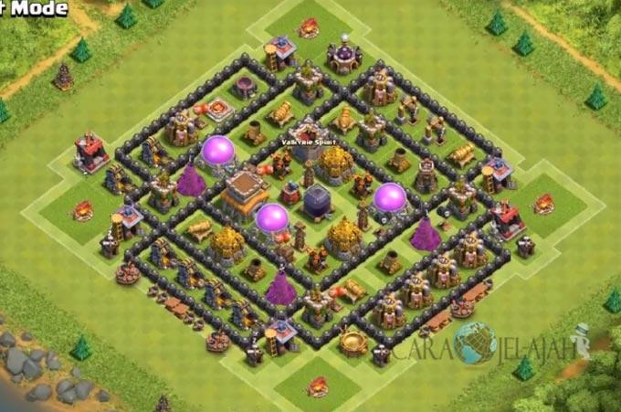 Base Hybrid TH 8 Clash Of Clans Terbaru Tipe 21