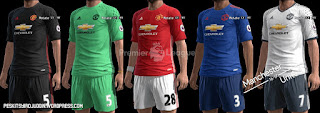 Manchester United Kits 2016-2017 Pes 2013 By syirojuddin15