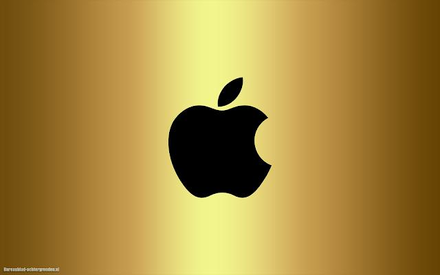 iPhone Achtergrond met zwarte Apple logo
