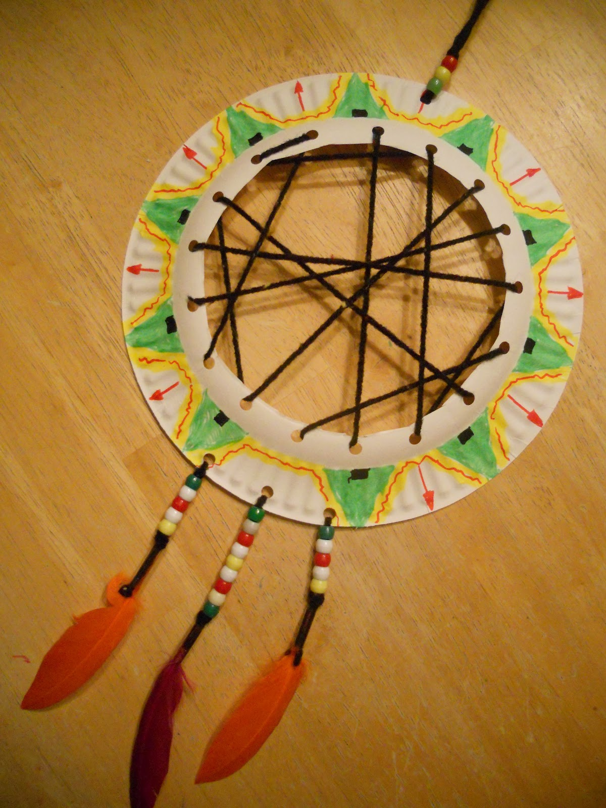 Create Art With Mrs P Super Simple Dream Catcher From A