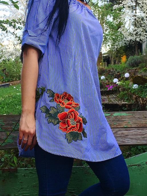 Bluse mit Stickereien von Trendfabrik auf dem Blog Label Love