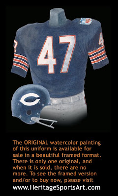 Chicago Bears 1969 uniform