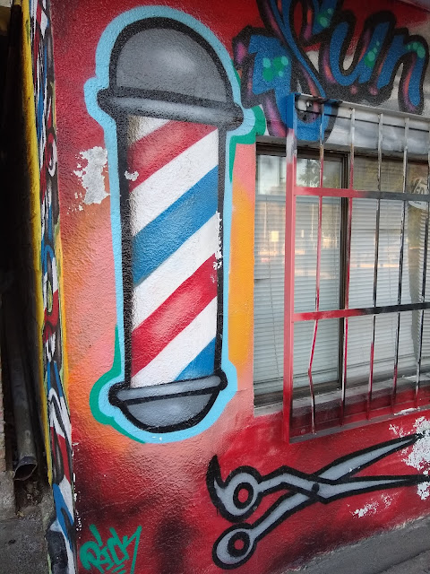 Barber shop graffiti