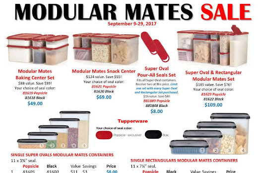 Modular Mates by Tupperware- Specials Ending Sept. 29, 2017