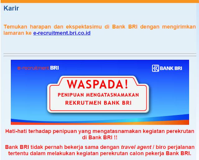Daftar Lowongan Kerja Bank BRI Ngawi Terbaru 2020
